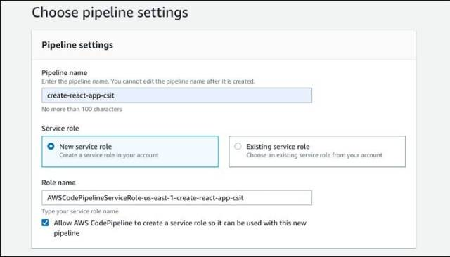 create a new pipeline