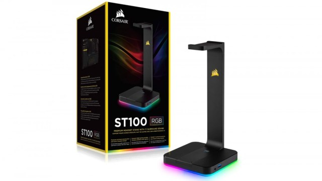 Corsair ST100 RGB Headset Holder with USB Charging Ports
