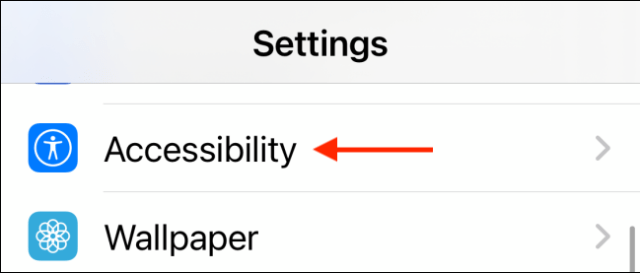 Select Accessibility in settings
