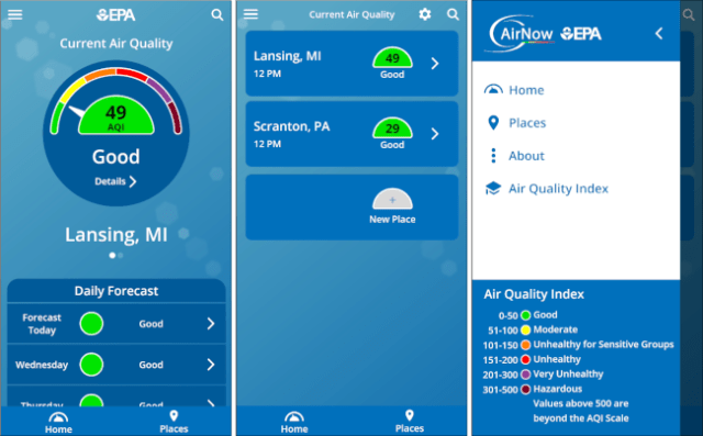feather air quality app for android