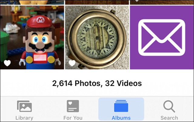 Examples of custom images in iPhone Photos.