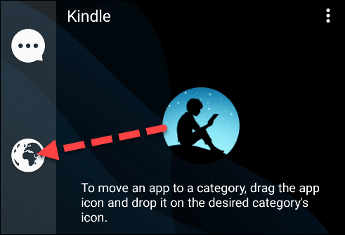 move the application to a new category