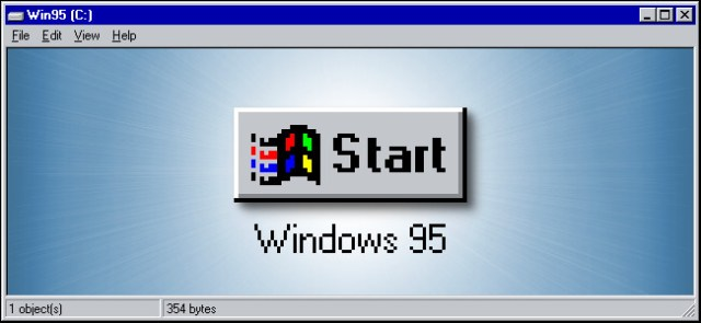 The Windows 95 Start button.
