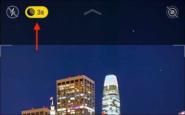 The night mode icon on iPhone 11.