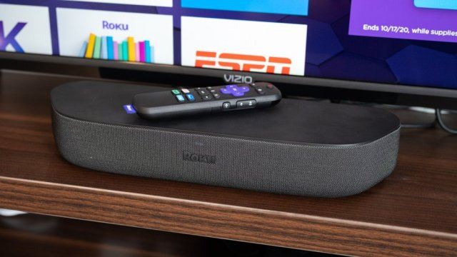Roku Streambar with voice remote