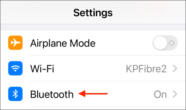 Select Bluetooth From Settings