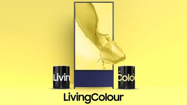 A banner showing Samsung's LivingColor interior paint.