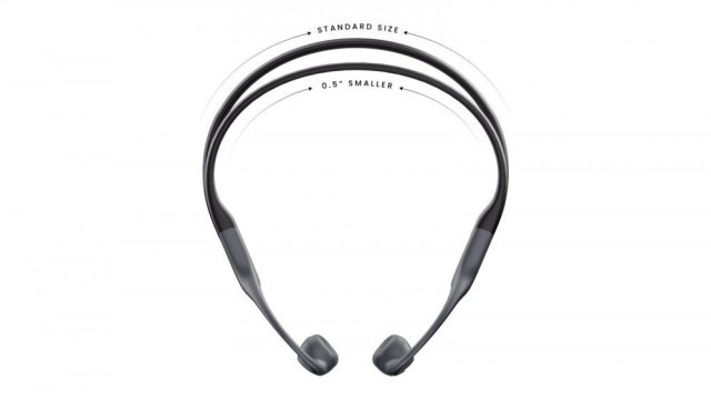 A side-by-side comparison of the AfterShokz Aeropex and the Aeropex Mini
