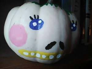 Painted pumpkin photo.