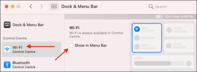 Add Wi-Fi module to Menu Bar