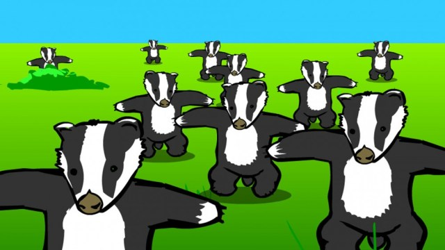A screenshot of the classic Badger Flash animation.