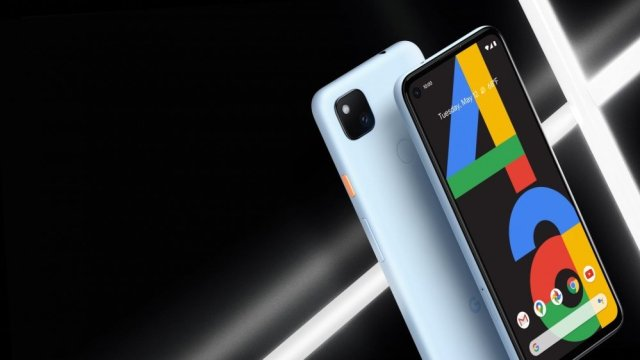 Google Pixel 4a in barely blue