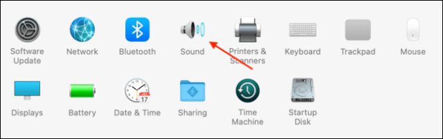Click Sound from System Preferences