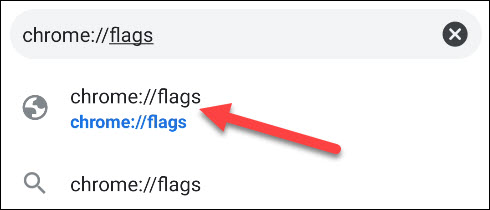 go to chrome flags page