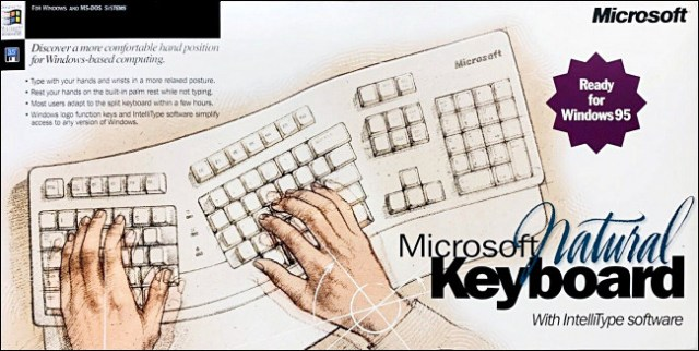 Microsoft Natural Keyboard Box.
