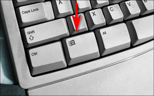 The Windows key on a Microsoft natural keyboard.
