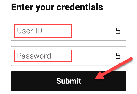 enter the credentials to associate the account