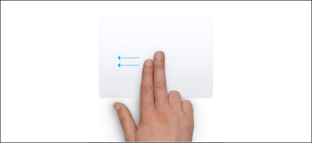 Swipe with two fingers on the trackpad to open action center on Mac