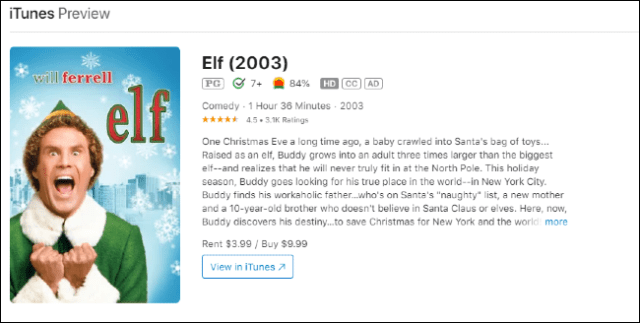 Elf on iTunes