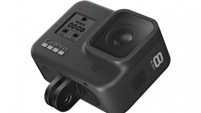 A photo of the GoPro HERO8 Black action camera.