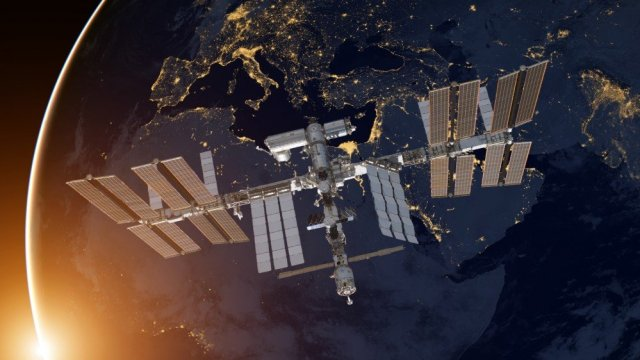 International Space Station on Planet Earth