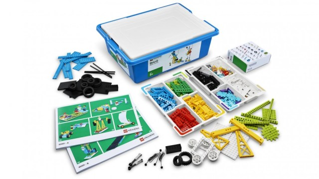 A disassembled and fitted out LEGO steamer set.