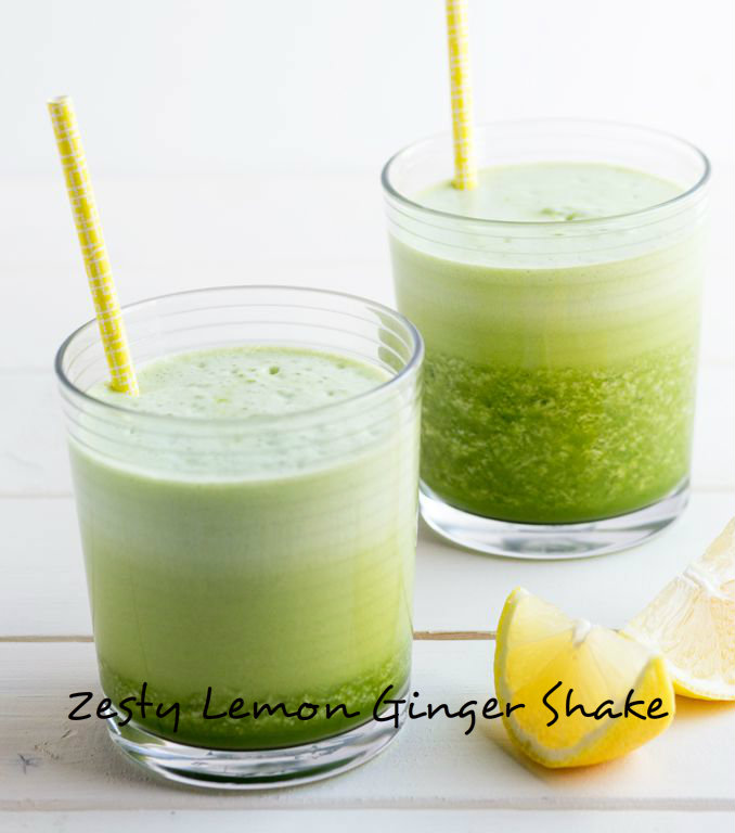 Zesty Lemon Ginger Shake