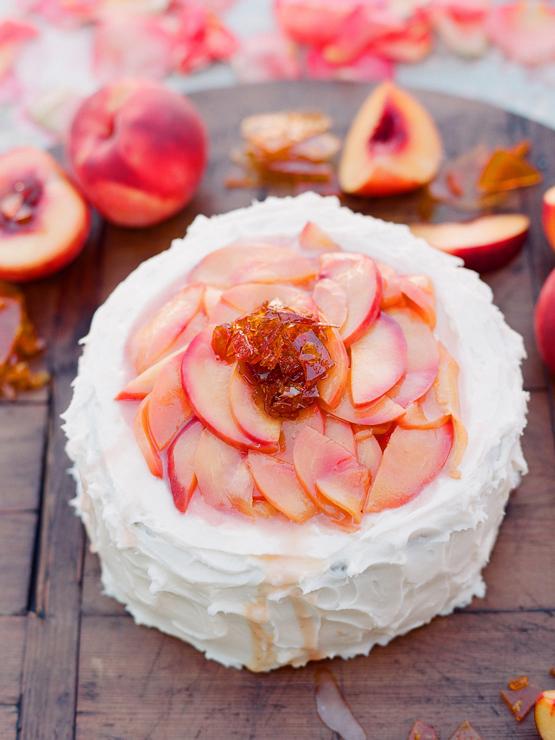peach cake….