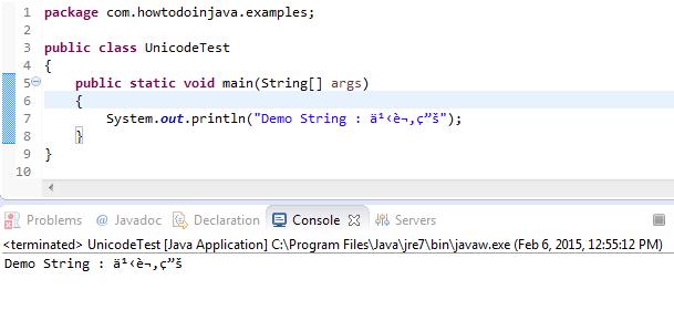 Incorrect Eclipse Unicode Translation