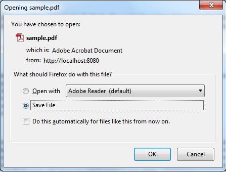 File download window