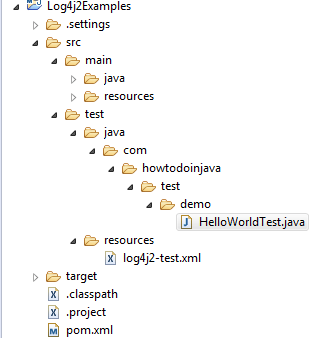 Log4j2 Config for JUnit