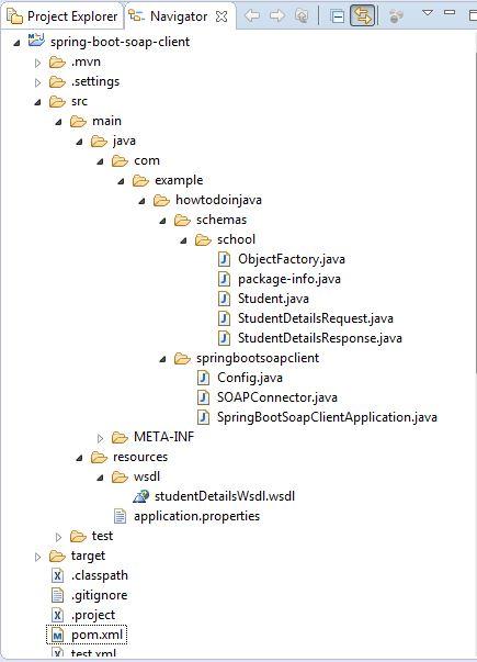 SOAP client project structure