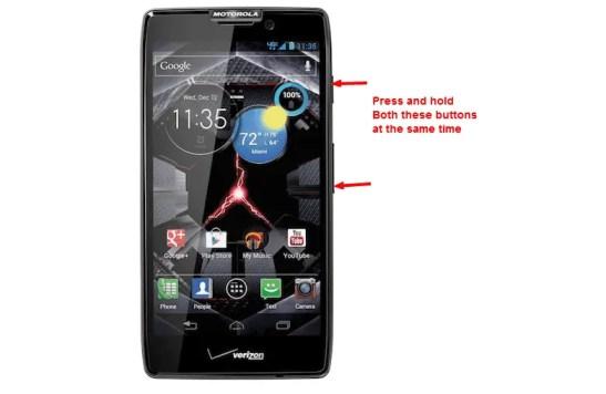 Take Screenshot on Moto X