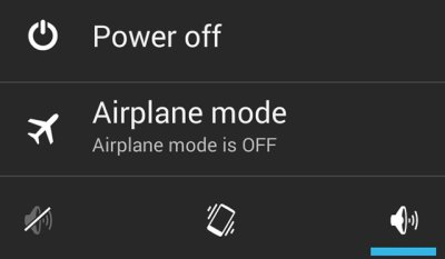 Power Off Android Options