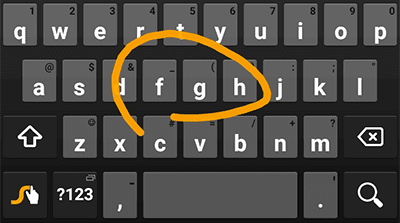 Swype Keyboard in Action
