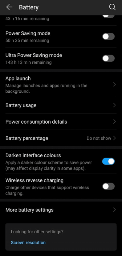 Enabling Dark Mode on Huawei P30 Pro