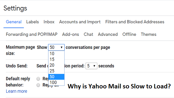 Why is Yahoo Mail so Slow