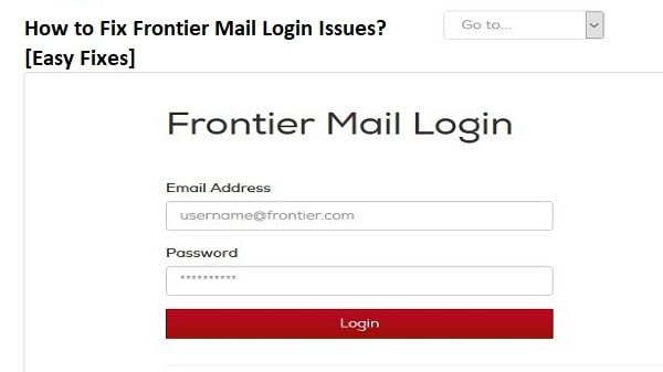 Frontier Mail Login Issues
