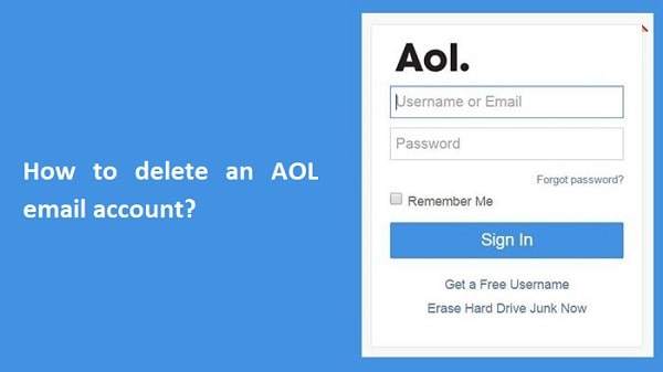 delete AOL email