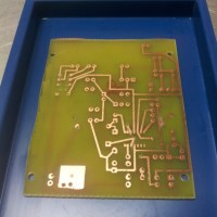 Make a circuit board and the steps I took for light exposing method.