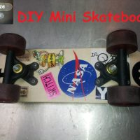 I Make a DIY Mini skateboard