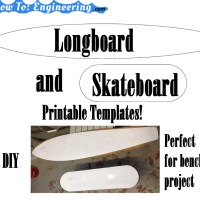 Longboard/Skateboard Printable Templates!