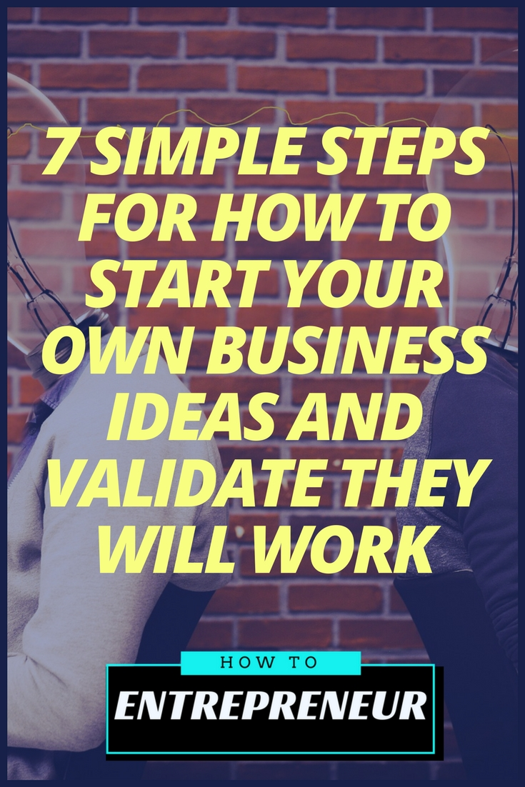 how to start your own business ideas