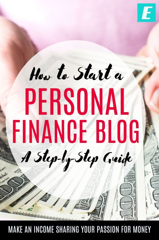 How to Start a Personal Finance Blog - Pinterest Pin