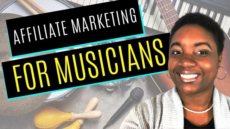 How to make money online as a Musician with Affiliate Marketing - Featured Image