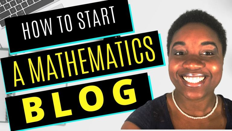 How to Start a Math Blog - Featured Image