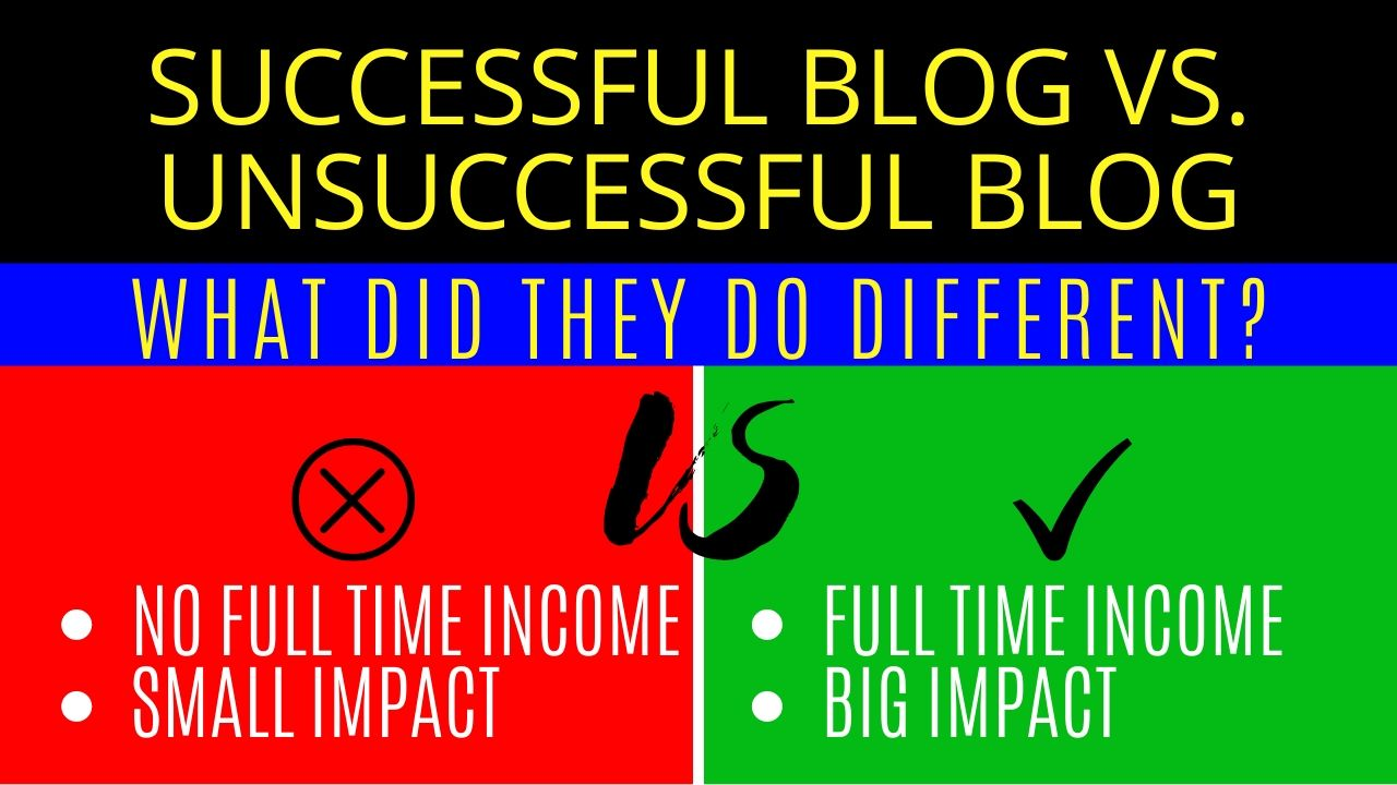 how to make a successful blog | successful blog vs. unsuccessful blog - featured image