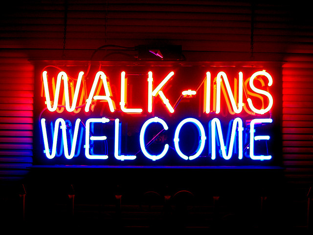 About Walk Ins Walk-ins-welcome