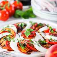 Caprese Salad with Grilled Peaches