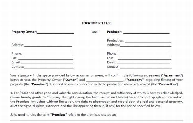 photo release form free